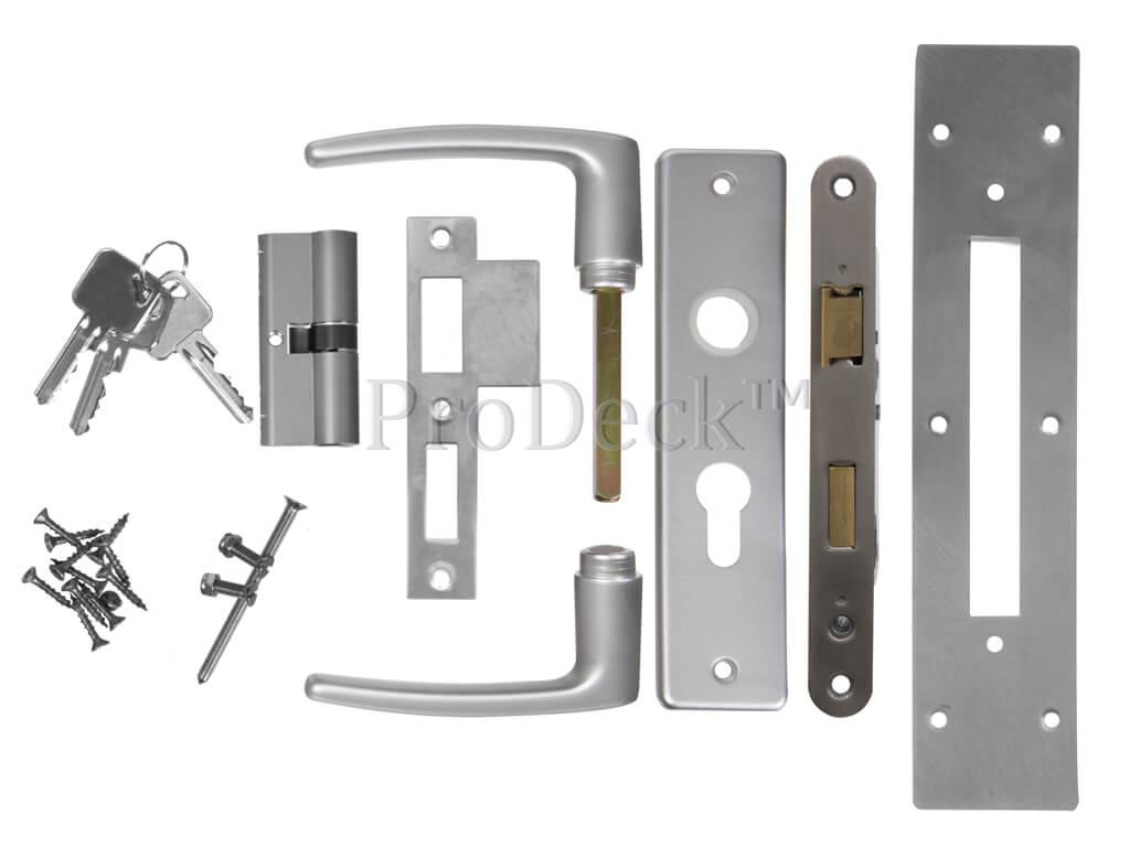 inbouwslot-aluminium-complete-set