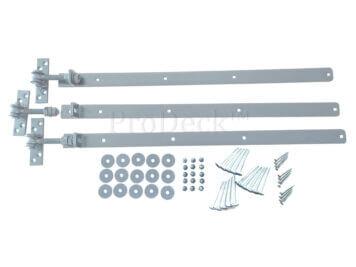 Verstelbare scharnieren • complete set • verzinkt • voor alle 90 cm composieten deuren
