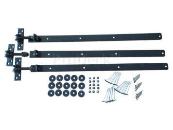 Verstelbare scharnieren • complete set • zwart • voor alle 90 cm composieten deuren