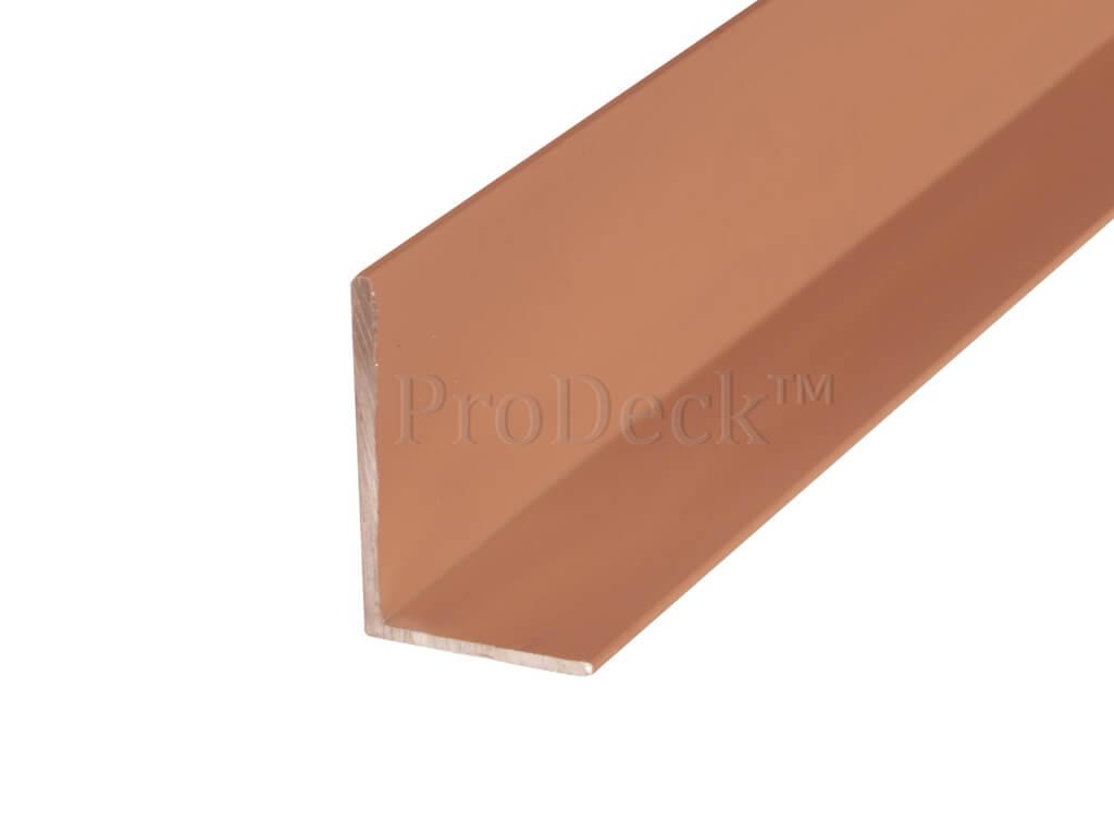 L profiel aluminium bruin