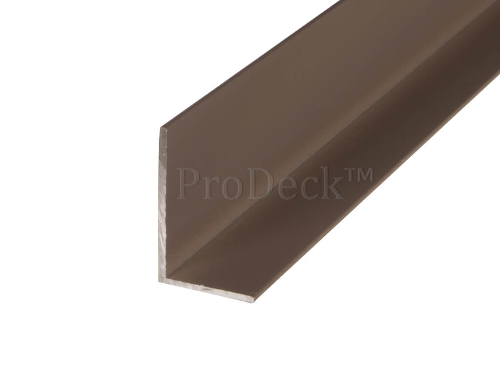 L profiel aluminium donkerbruin