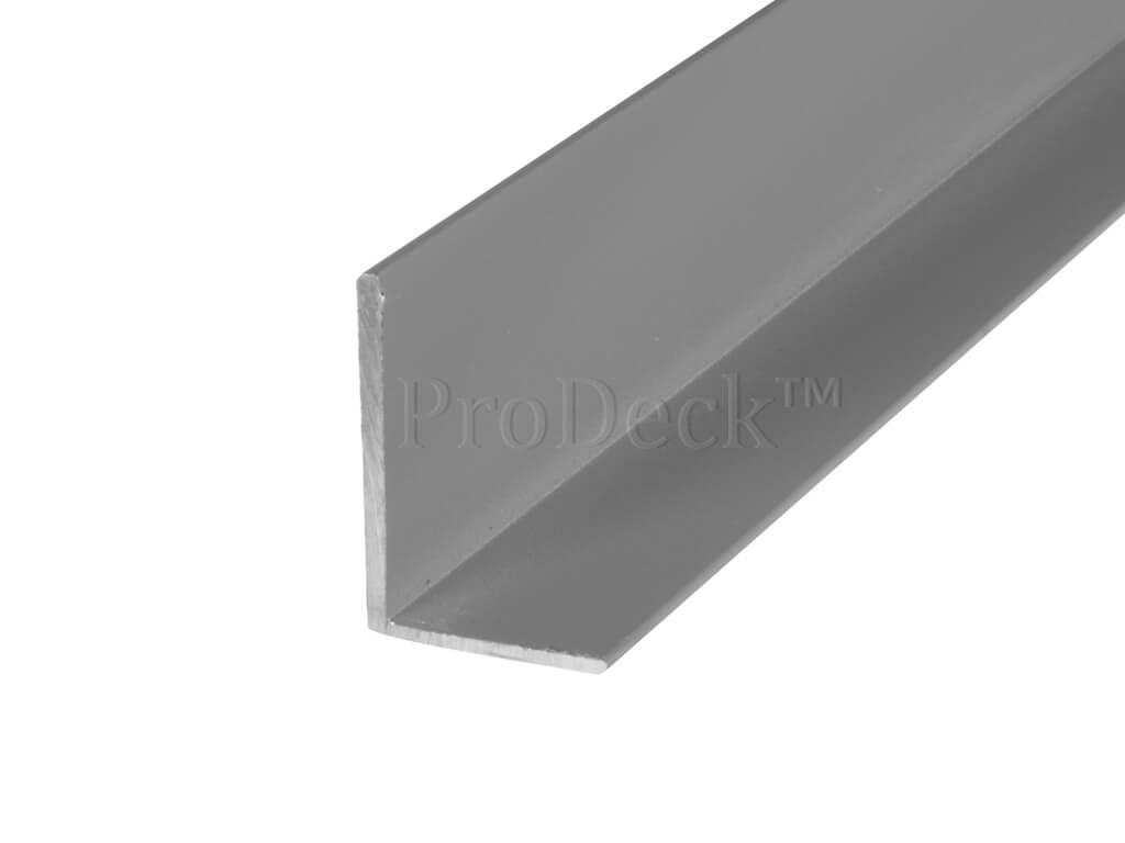 L profiel aluminium grijs