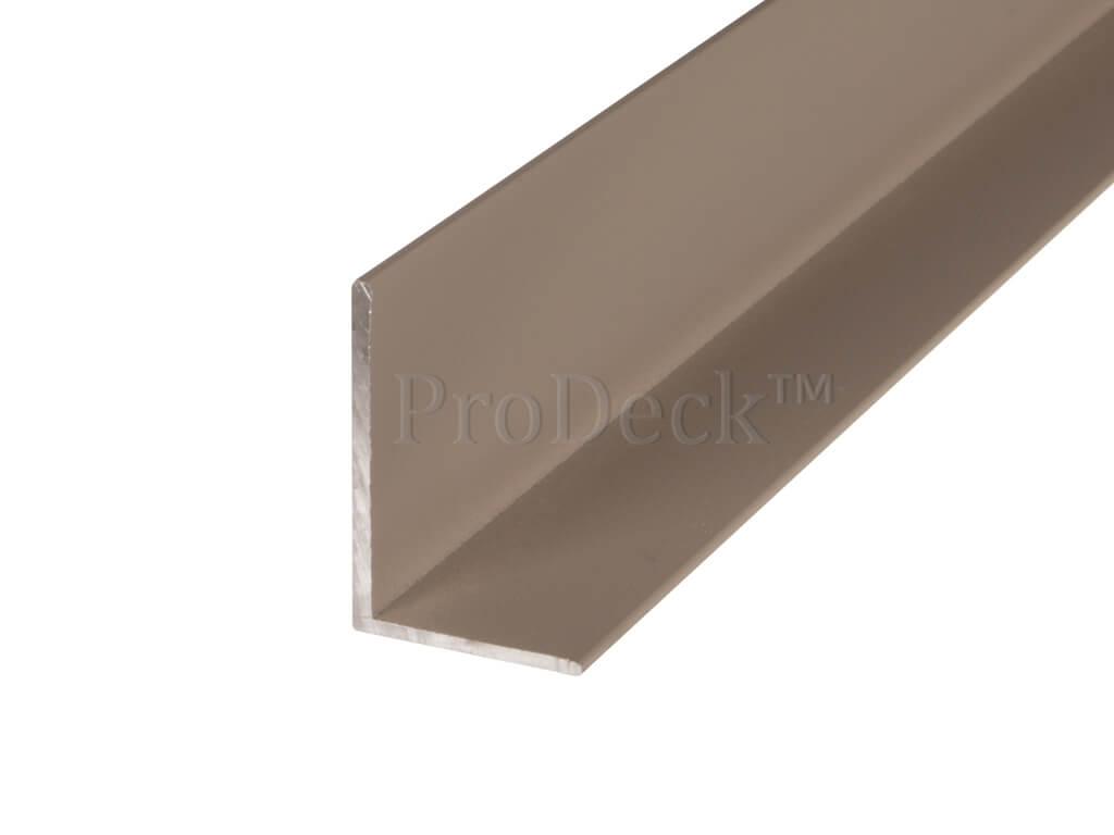 L profiel aluminium vergrijsd bruin