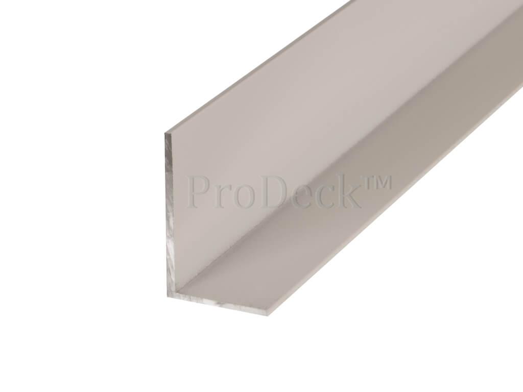 L profiel aluminium wit