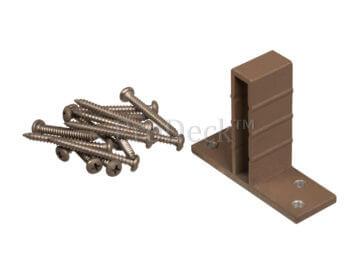 T-beslagset • aluminium • bruin • voor luxe schutting • 8 stuks • incl. schroeven