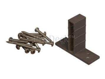 T-beslagset • aluminium • koffiebruin • voor luxe schutting • 8 stuks • incl. schroeven