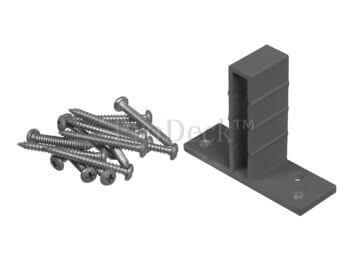 T-beslagset • aluminium • grijs • voor luxe schutting • 8 stuks • incl. schroeven