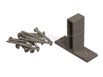 T-beslagset • aluminium • vergrijsd bruin • voor luxe schutting • 8 stuks • incl. schroeven