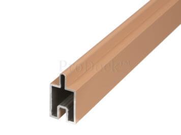 Beginstrip • sierstrip • bruin • ca. 179,5×3,1×2,4 cm • voor stapelplanken