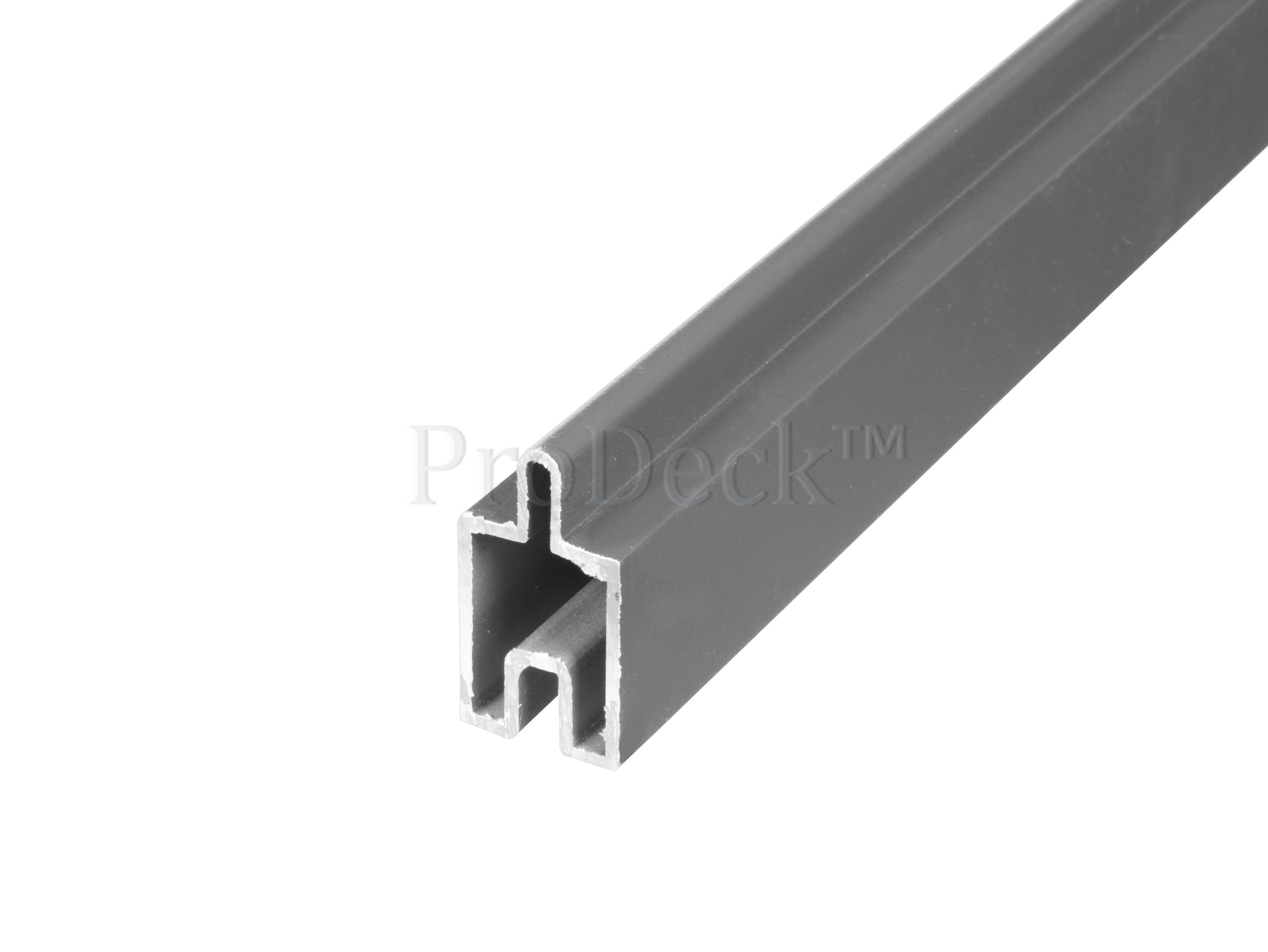 Beginstrip   sierstrip   stapelplanken   aluminium   lichtantraciet