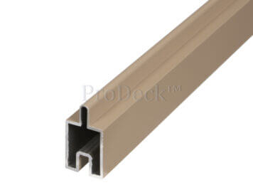 Beginstrip • sierstrip • teak • ca. 179,5×3,1×2,4 cm • voor stapelplanken