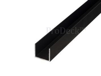 U-profiel • aluminium • donkerantraciet gecoat • 28×25 mm • lengte 200 cm