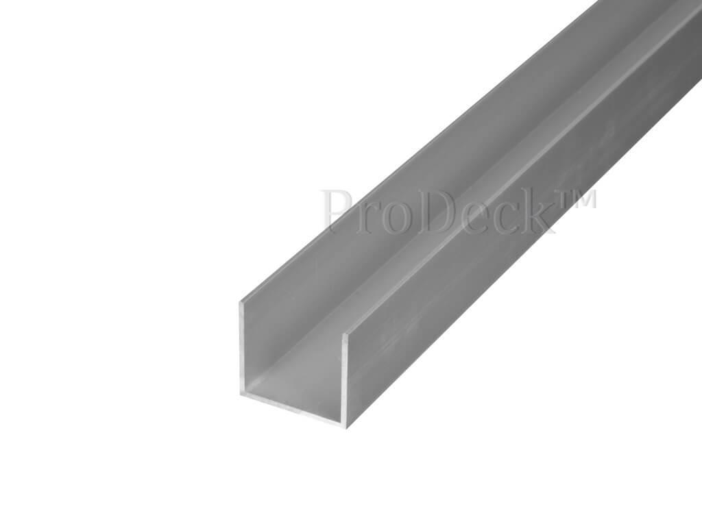U profiel aluminium aluminium