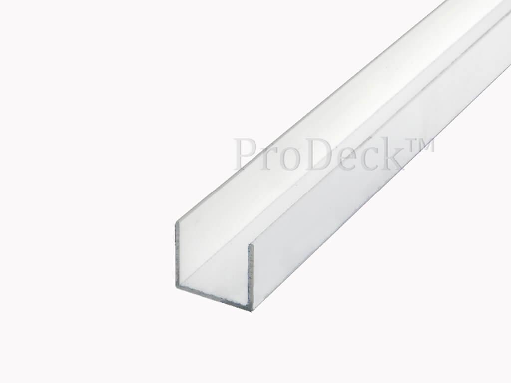 U profiel aluminium helderwit