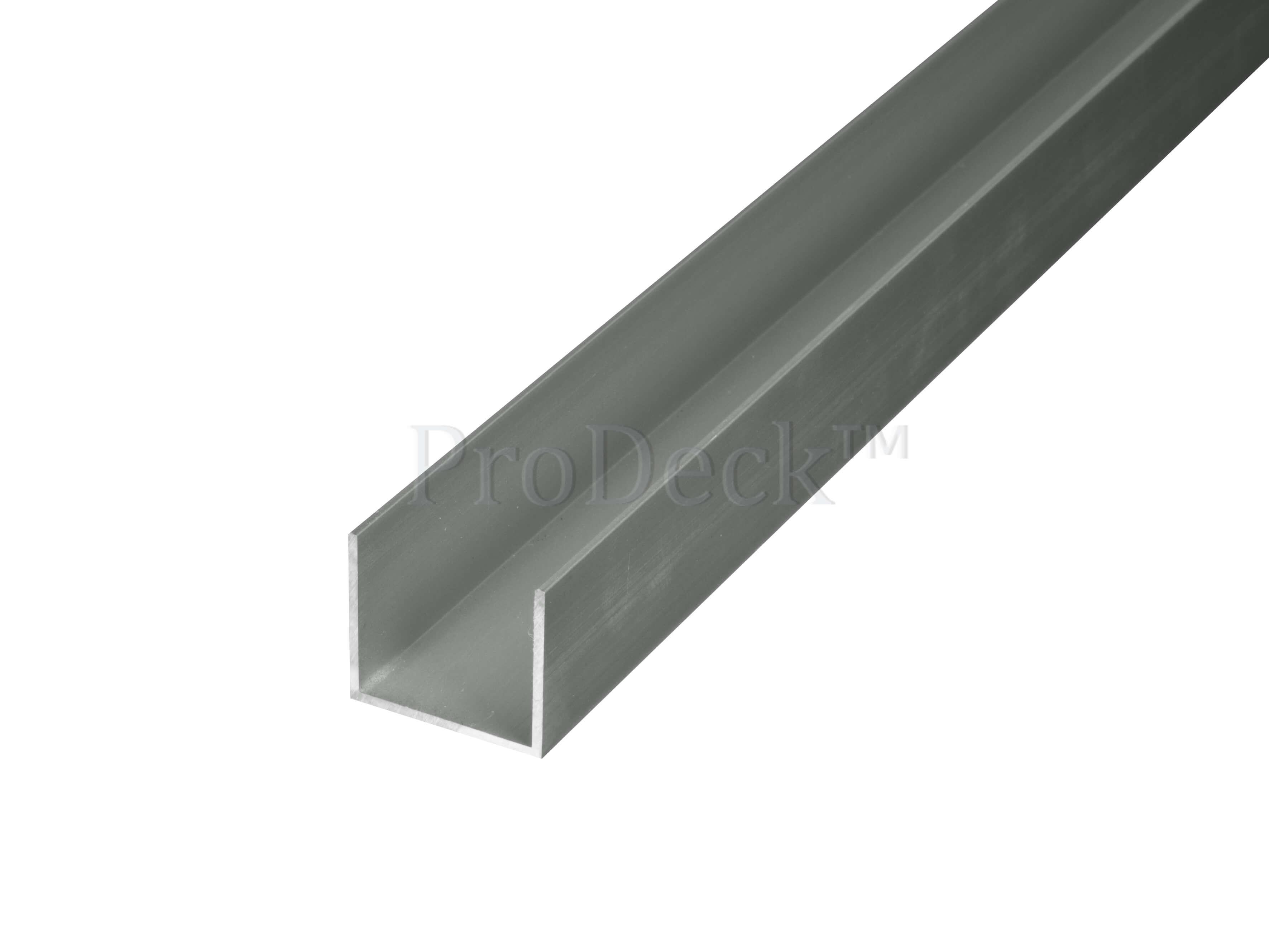 U profiel   aluminium   licht antraciet