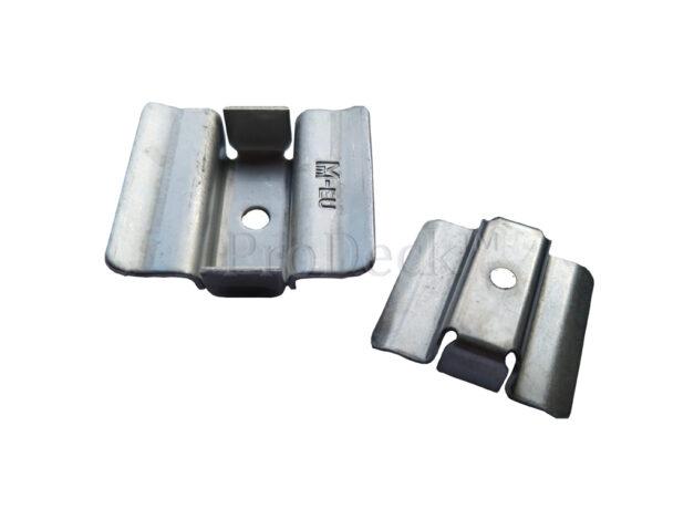 Clip 46 • rvs • voor 22 mm dikke massieve WoodPlastic® vlonderplanken • top