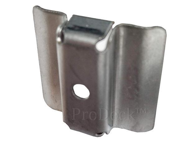 Clip • rvs • voor 22 mm dikke massieve WoodPlastic® vlonderplanken • top