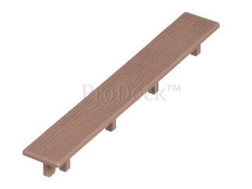 Eindkapje voor deurplank • kunststof • bruin