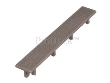 Eindkapje voor deurplank • kunststof • vergrijsd bruin