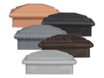 Bodemafdekkap voor onderkant paal• kunststof • hoedje • verschillende kleuren • voor 10×10 cm