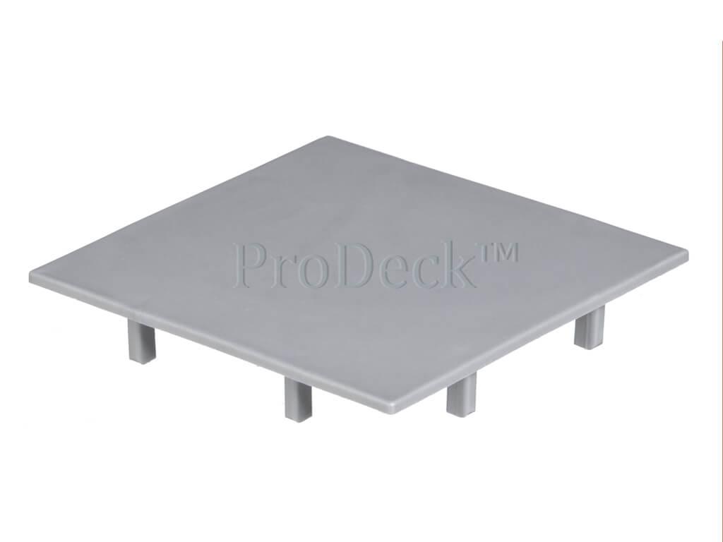 Afdekkap kunststof plat aluminium 10x10