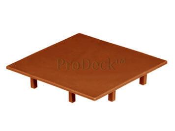 Afdekkap • kunststof • plat • bruin • 10×10 cm