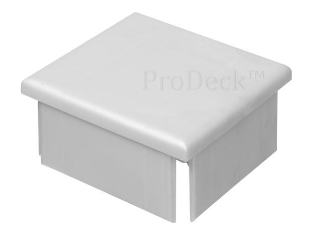 Afdekkap • kunststof • plat • extra stevig • aluminium • 10×10 cm