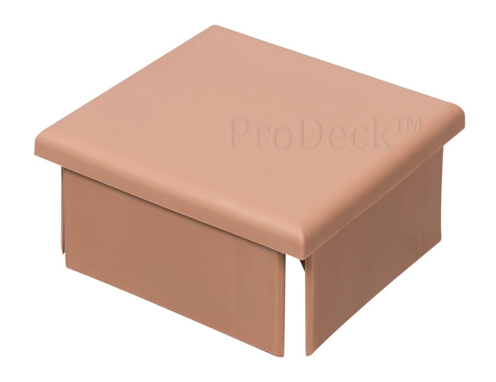 Afdekkap kunststof plat extra stevig bruin 10x10