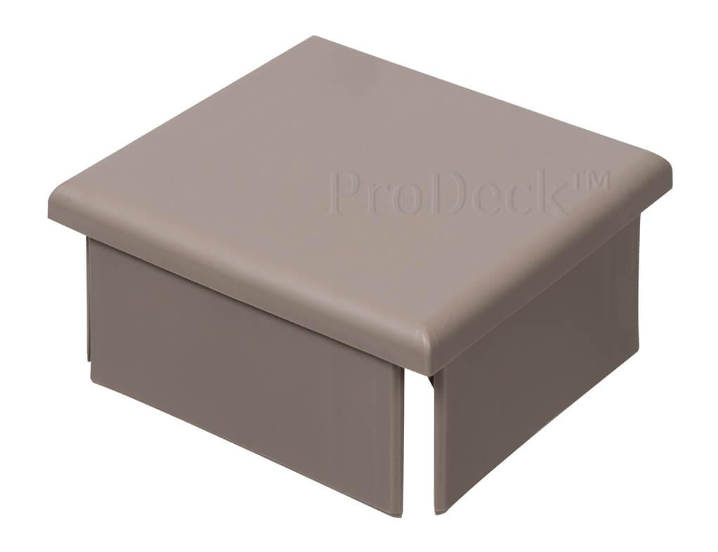 Afdekkap kunststof plat extra stevig vergrijsd bruin 10x10