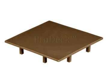 Afdekkap • kunststof • plat • vergrijsd bruin • 10×10 cm