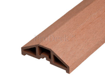 Afdekbalk • composiet • bruin • voor schuttingpaal 10×10 cm