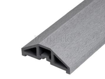 Afdekbalk • composiet • grijs • voor schuttingpaal 10×10 cm