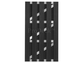 Deur • composiet • antraciet • aluminium dwarsbalken • 100×180 cm