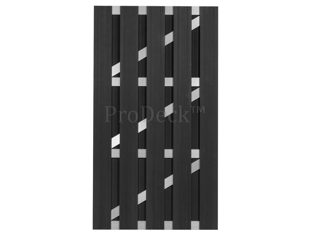 Composiet deur antraciet aluminium 100x180