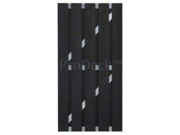 Deur • composiet • antraciet • aluminium dwarsbalken • 90×180 cm