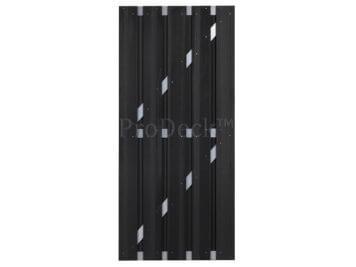 Deur • composiet • antraciet • aluminium dwarsbalken • 90×200 cm
