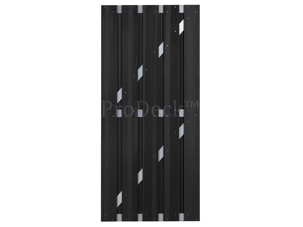 Composiet deur antraciet aluminium 90x200