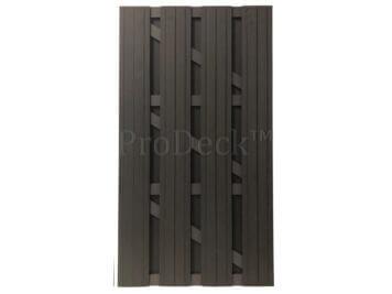 Deur • composiet • XL • antraciet • antraciet gecoate aluminium dwarsbalken • 100×180 cm