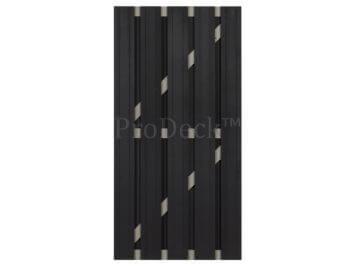 Deur • composiet • antraciet • wit gecoate aluminium dwarsbalken • 90×180 cm
