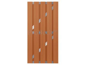 Deur • composiet • bruin • aluminium dwarsbalken • 90×180 cm