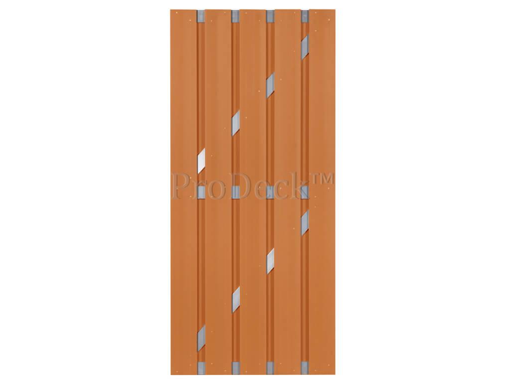 Composiet deur bruin aluminium 90x200