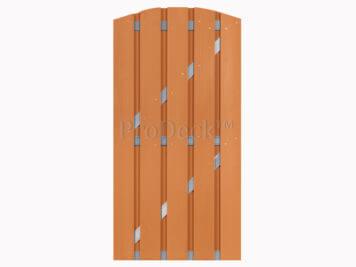 Deur • composiet • toogdeur • bruin • aluminium dwarsbalken • 90×190 cm