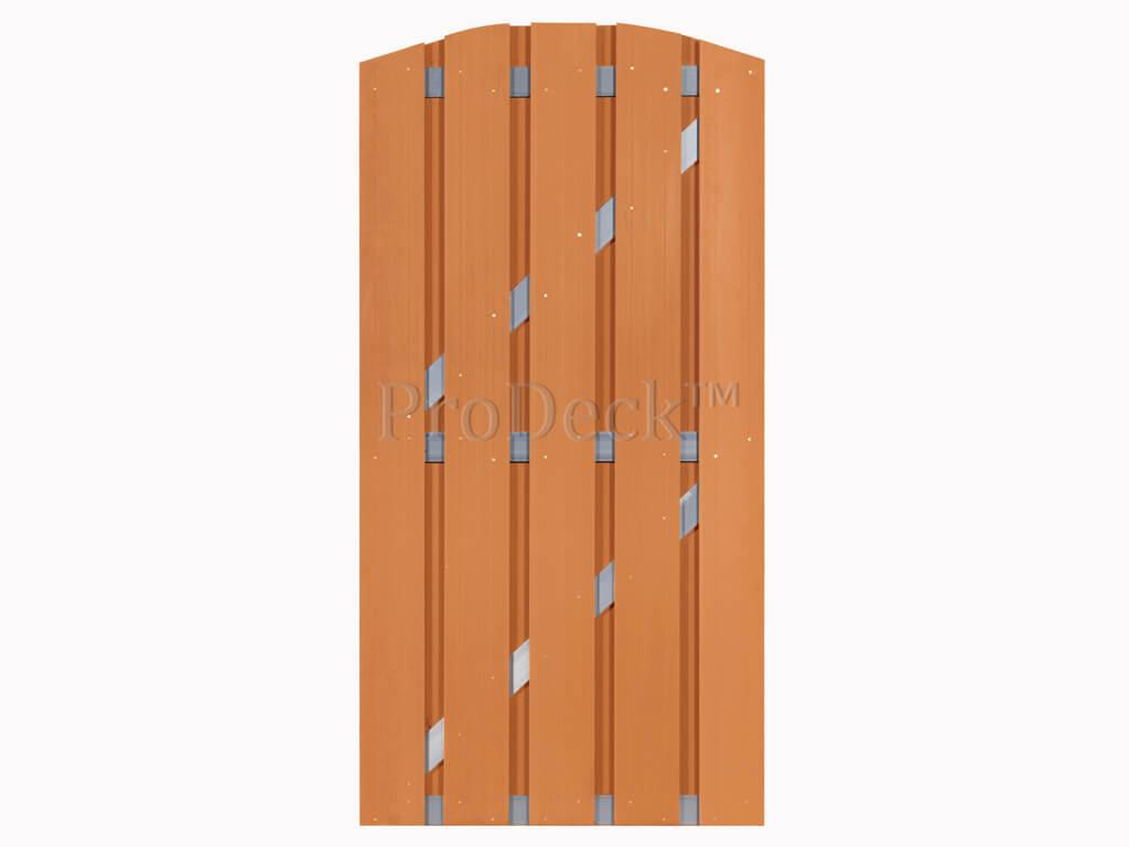 Composiet deur bruin aluminium toog