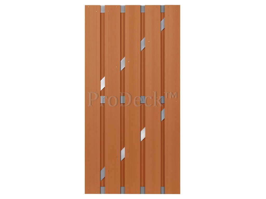 Composiet deur bruin aluminium
