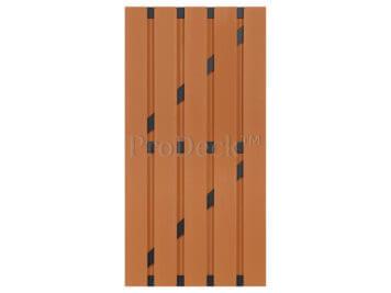 Deur • composiet • bruin • antraciet gecoate aluminium dwarsbalken • 90×180 cm