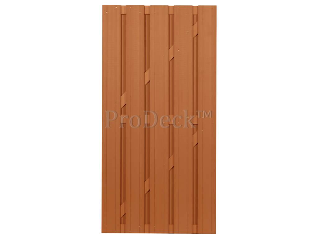 Composiet deur bruin composiet bruin dwarsbalk