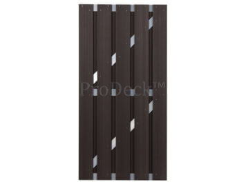 Deur • composiet • koffiebruin • aluminium dwarsbalken • 90×180 cm