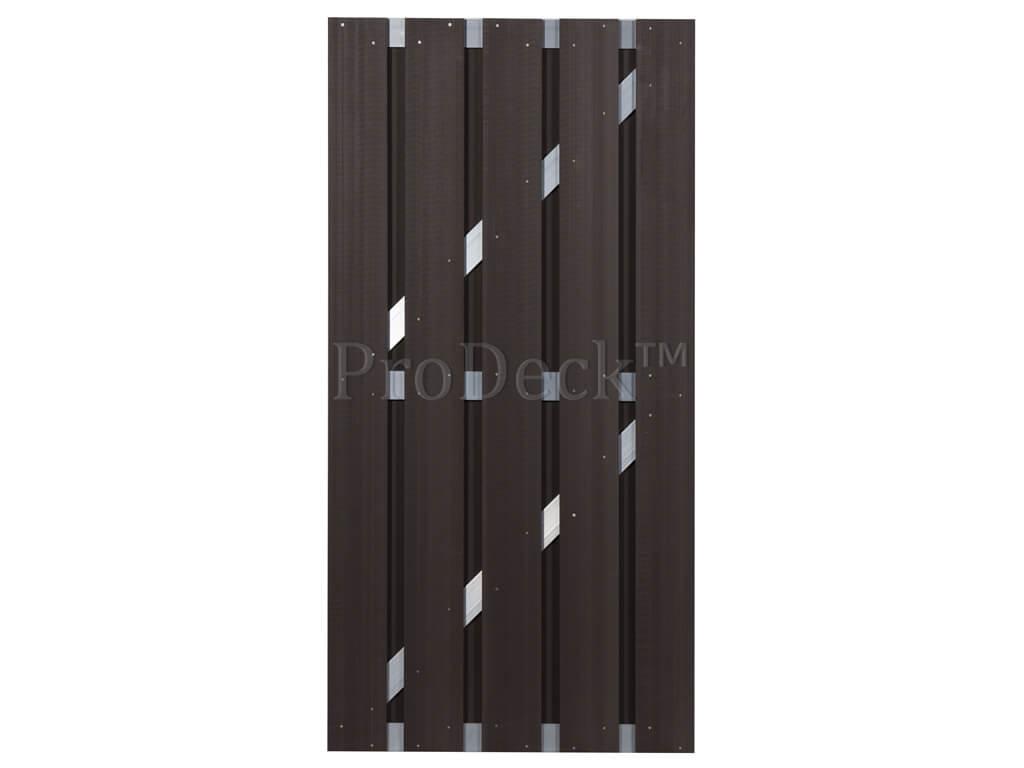 Composiet deur donkerbruin aluminium