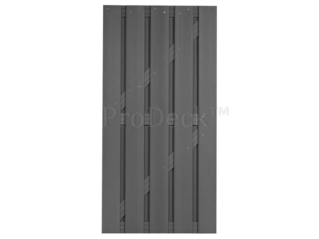 Composiet deur grijs 3 composiet grijs dwarsbalken
