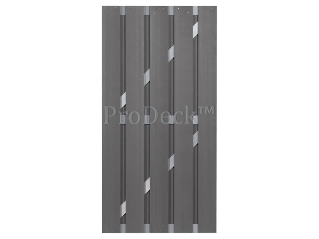 Composiet deur grijs aluminium